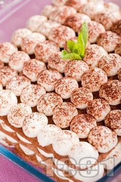 Лесна торта с извара и какао - снимка на рецептата